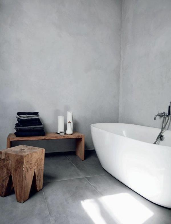 Dusche Freistehende Wand : 20 exklusive minimalistische Badezimmer Ideen mit auff?lliger