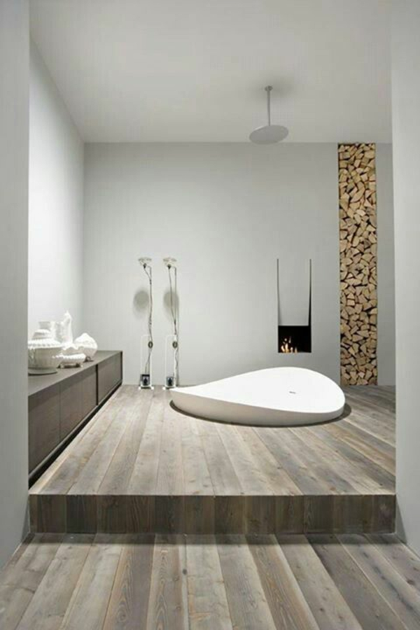 Badezimmer Renovieren Mit Holz : exklusive minimalistische Badezimmer ...