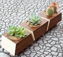 25 moderne Ideen für Blumentöpfe und Pflanzgefäße