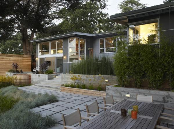 modern landschaft garten gartengestaltung gras pflanzen