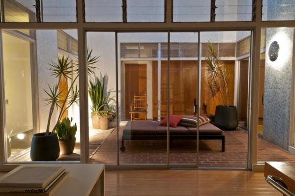 modern patio liegen erholen braun auflagen garten und landschaft
