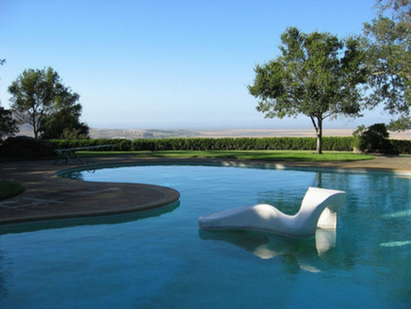 modern pool trendy garten und landschaft futuristisch