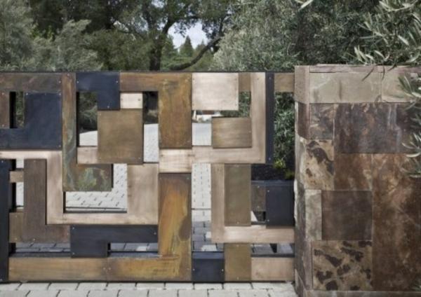 Moderne gartenz une schaffen sichtschutz im au enbereich for Stein s garden home
