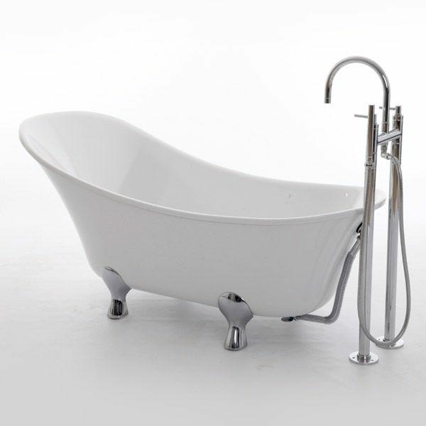 moderne badewanne freistehend klare linien schlichtes design