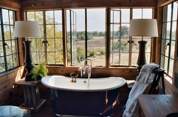 moderne badezimmer ideen badmöbel freistehende badewanne
