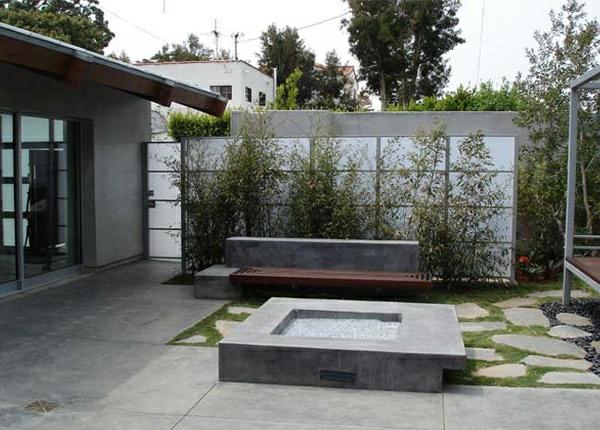 moderne design ideen außenbereich sichtschutz