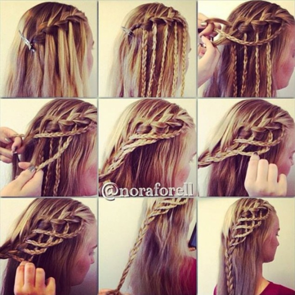 Причёски на средние волосы в школу своими руками фото