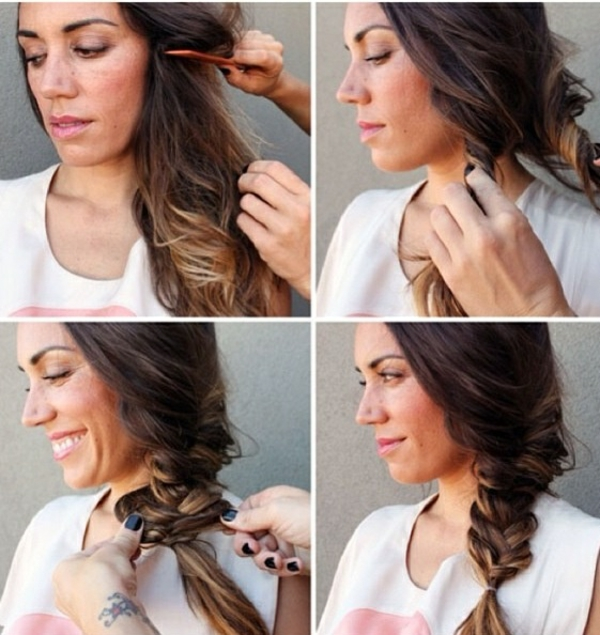 moderne diy frisuren trendy