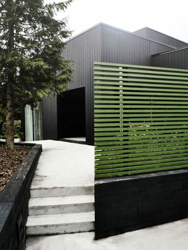 Moderner garten sichtschutz  Moderne Gartenzäune schaffen Sichtschutz im Außenbereich