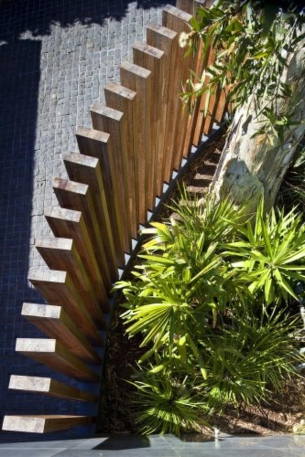 moderne gartenzäune holz pflanzen design