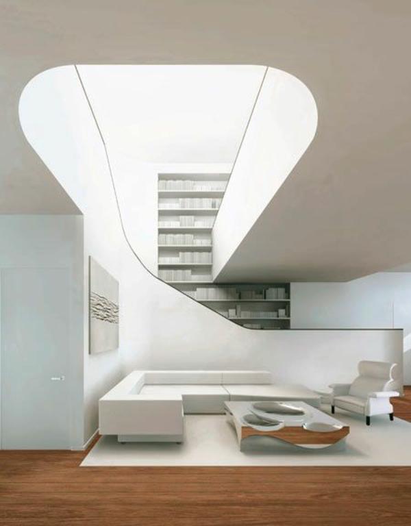 moderne interior ideen in weiß treppenhaus