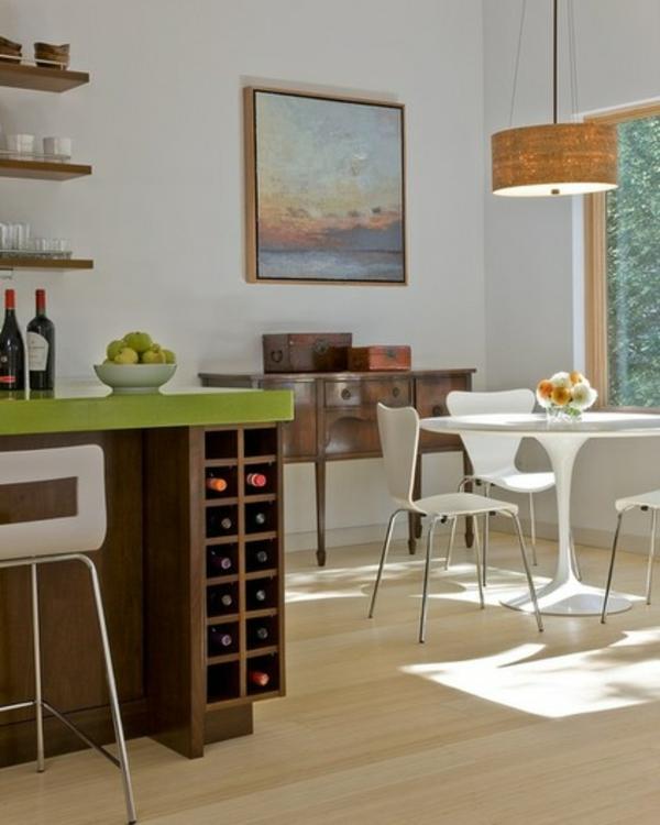 moderne küche design ideen kücheninsel stauraum tisch stühle