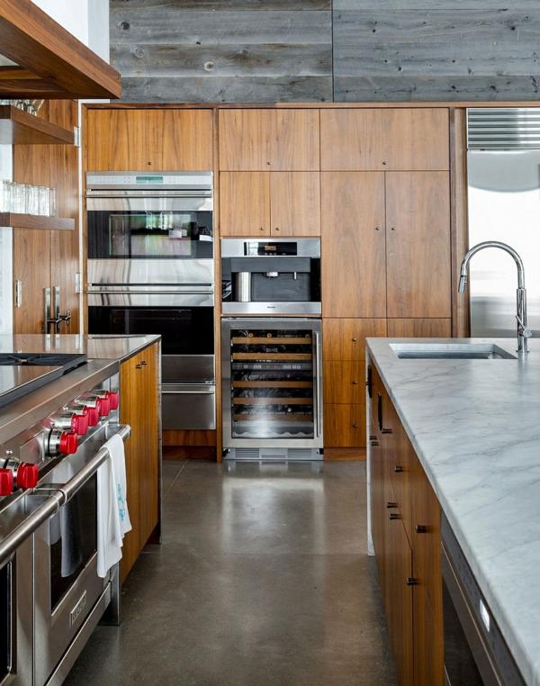 moderne küche mit holz schrank waschbecken