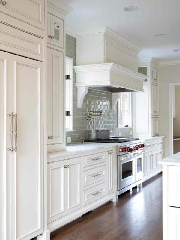 moderne küchengestaltung weiß traditionell einrichten