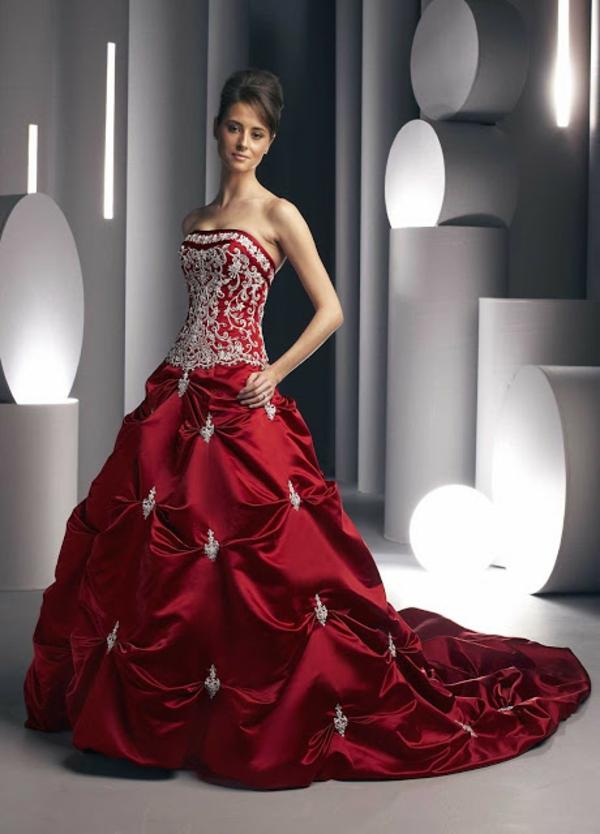 moderne lange rote abendkleider mit schleppe  trends abendkleider