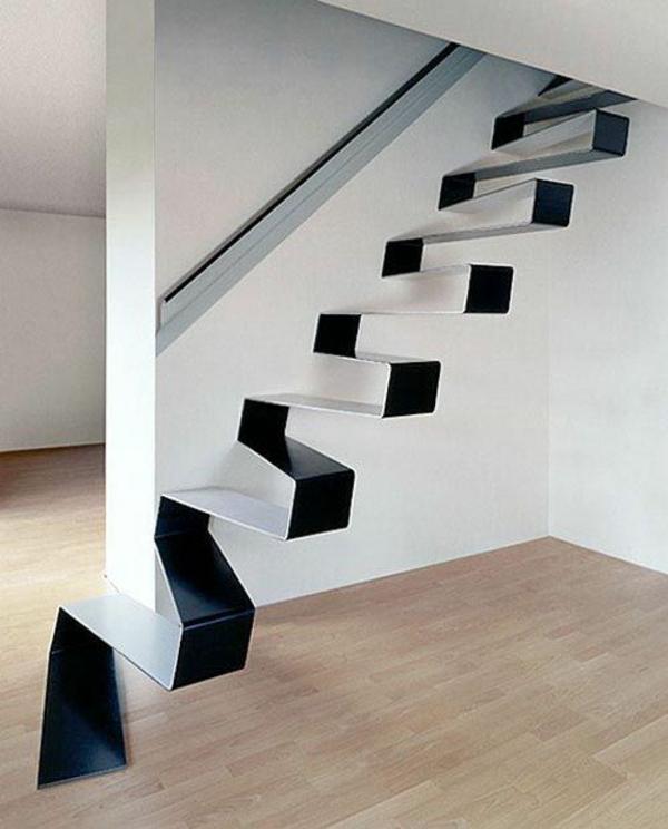 moderne treppe gefalteter stahl
