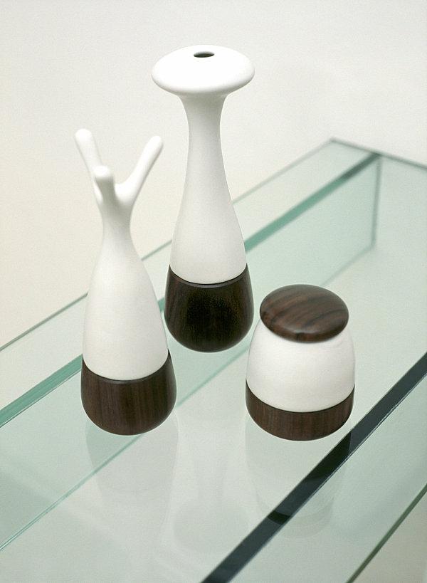 moderne wohnideen küche glasregal