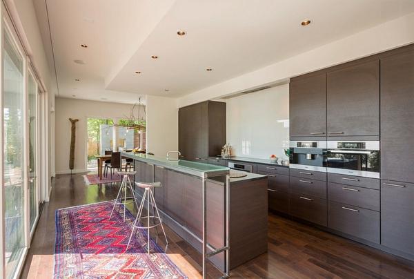 moderne wohnideen küchenideen holzküche kücheninsel