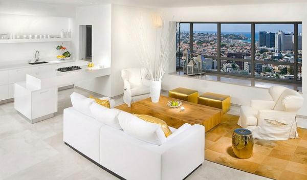 design : wohnzimmer weiß schwarz gold ~ inspirierende bilder von ...