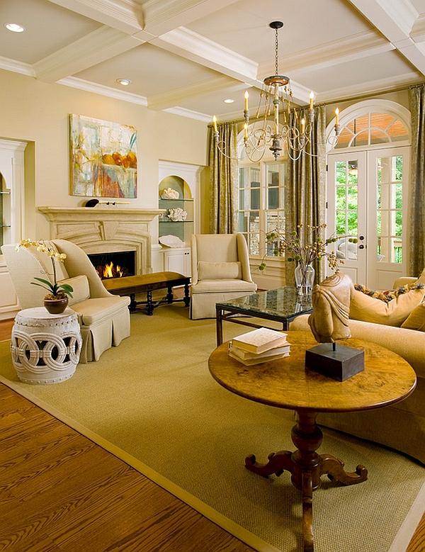 moderne wohnzimmer design ideen chinesische gartenstühle warme farben