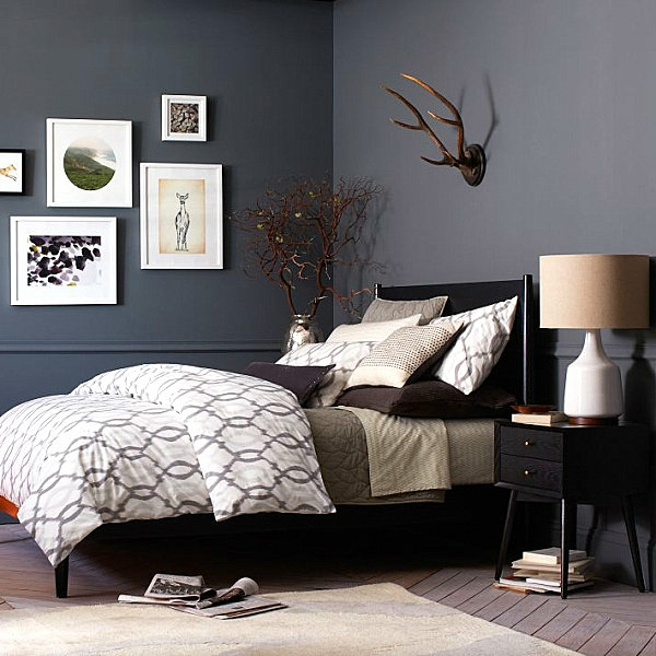 modernes bett schwarz möbel schlafzimmer