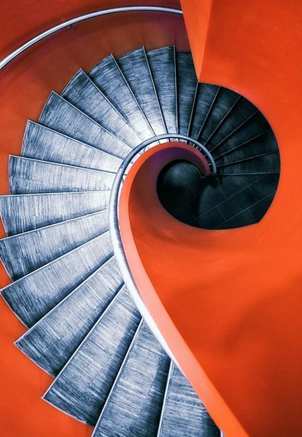 orange treppe zeitgenössisch stufen