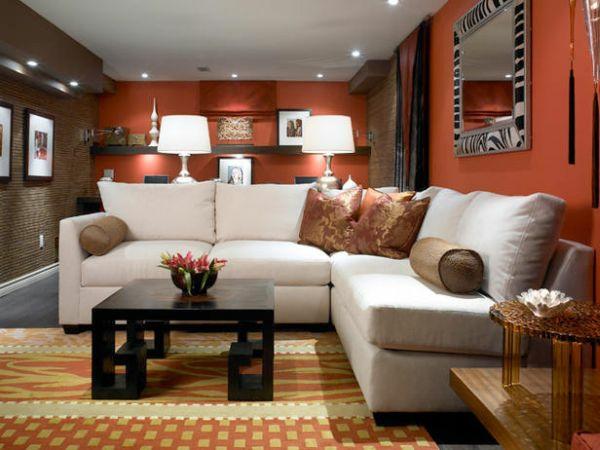 Gestaltung Wohnzimmer Warme Farben