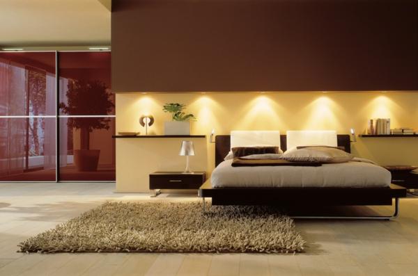 Schlafzimmerwand Gestalten - Wanddeko Hinter Dem Bett Schlafzimmer Wand