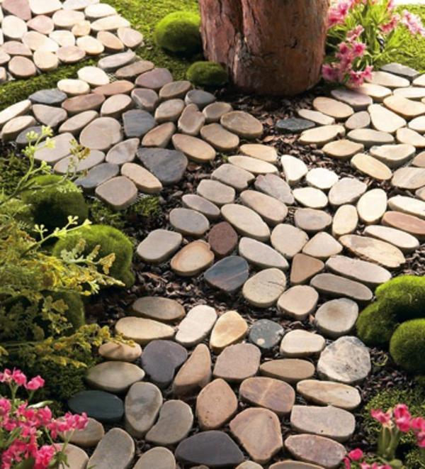 Kieselsteine Garten: Gartengestaltung Mit Steinen Verkörpert Die Ewigkeit