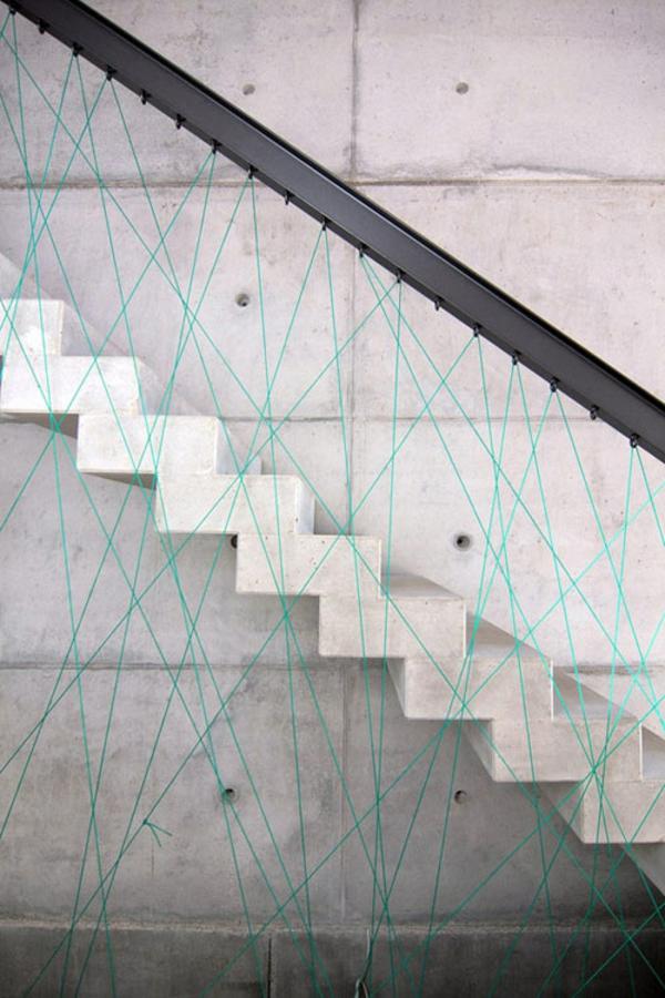 originelle treppendesigns beton stufen geländer