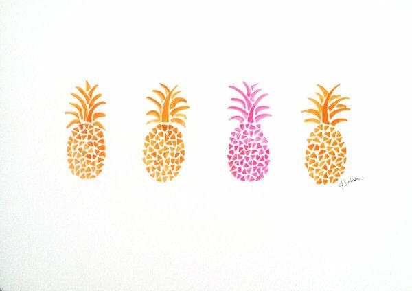 tropische dekoideen ananas muster