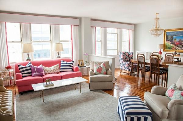 Pastellfarben Wohnzimmer Design Ideen Esstisch