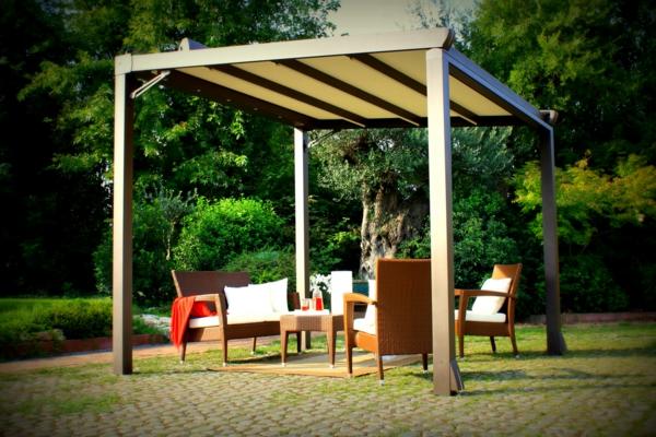Pergola beschattung sonnenschutz im garten und im hinterhof - Garten pergola holz ...