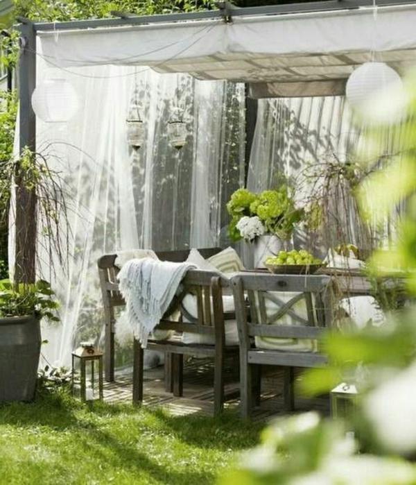 Pergola Beschattung - Sonnenschutz Im Garten Und Im Hinterhof Pergola Mit Vorhangen Ideen Garten Deko