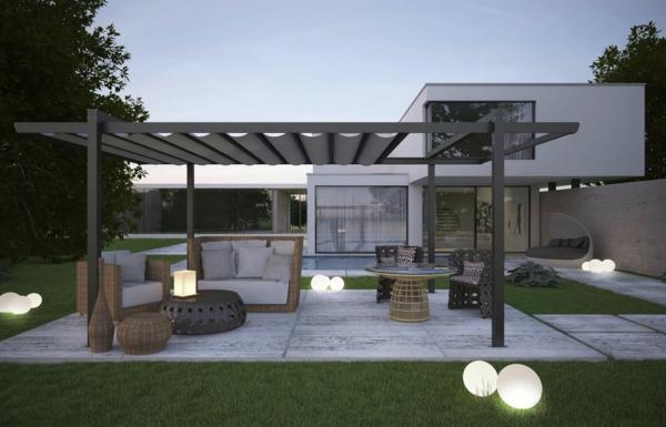 pergola gartenlaube konstruktion designer landschaft