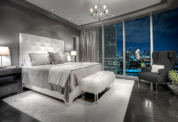 plüsch schlafzimmer in grau interior design