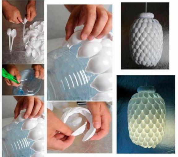 Plastiklöfel Deko Ideen Kronleuchter Selber Machen Bastelideen Für  Erwachsene