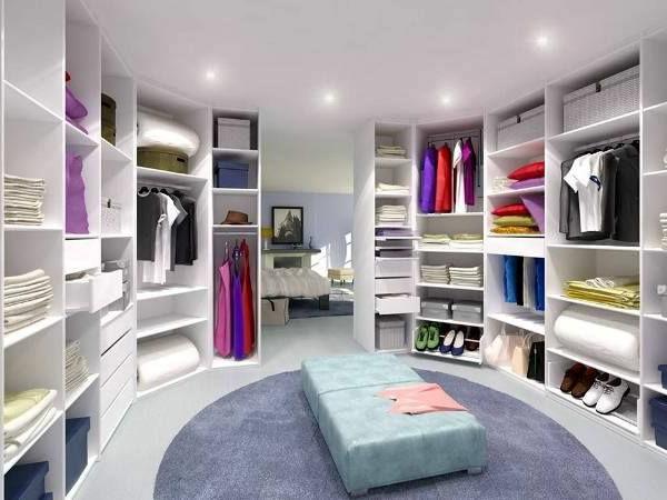 polstermöbel sitzbank teppich rund kleiderschrank ankleidezimmer
