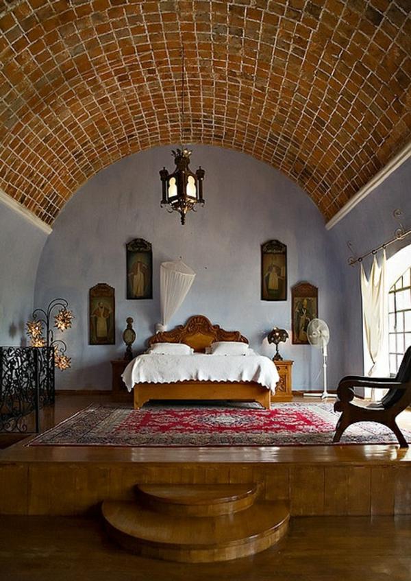 prächtige ideen schlafzimmer auf plattform decke