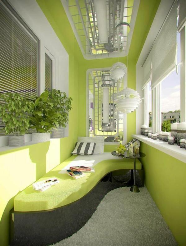 grün inspirierte terrasse sofa pendelleuchten