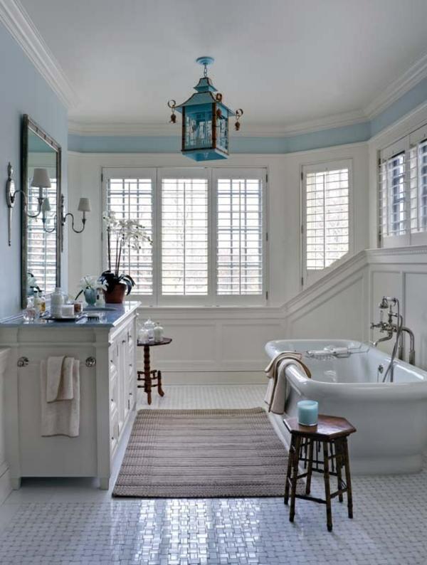 relax atmospäre im badezimmer weiße möbel