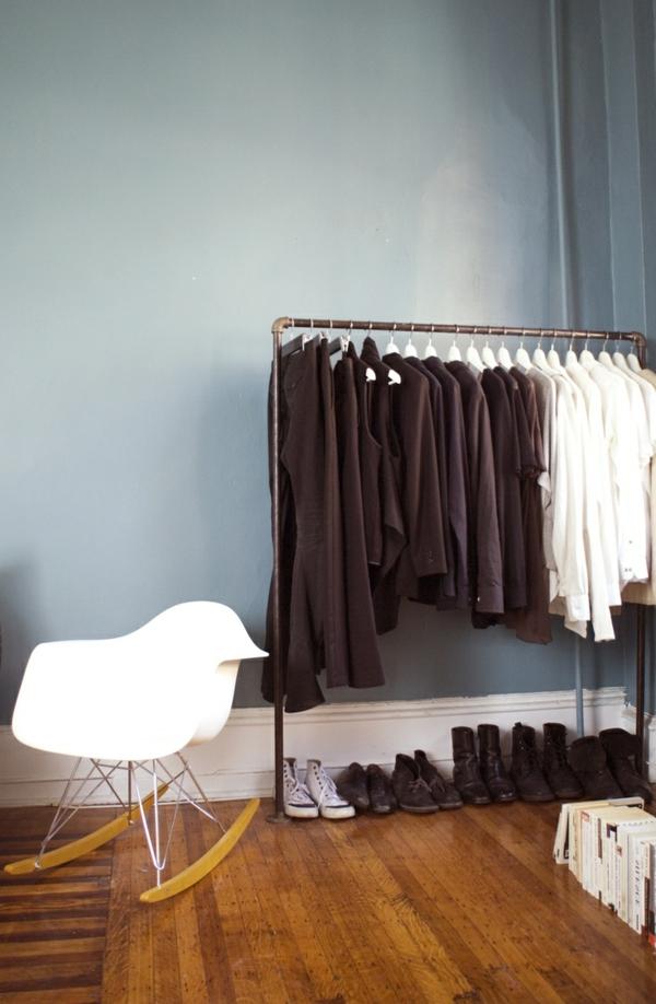 rohre kleiderständer schuhregal flur industriell stil