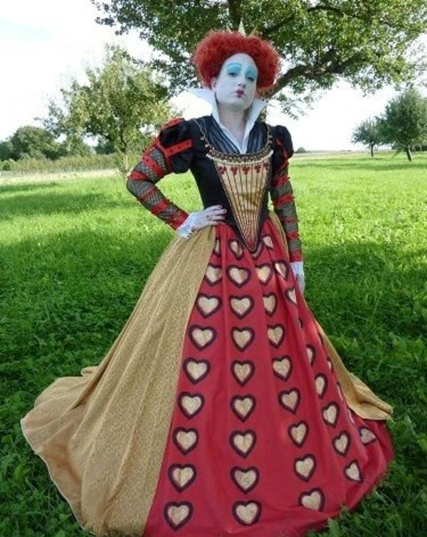 rote königin alice im wunderland fasching