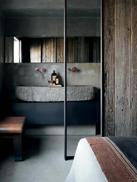 badezimmer waschbecken stein ~ beste ideen für moderne ... - Badezimmer Stein