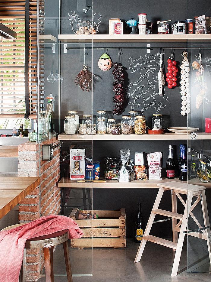 rustikale küchenideen moderne innenarchitektur apartment barcelona kücheninsel