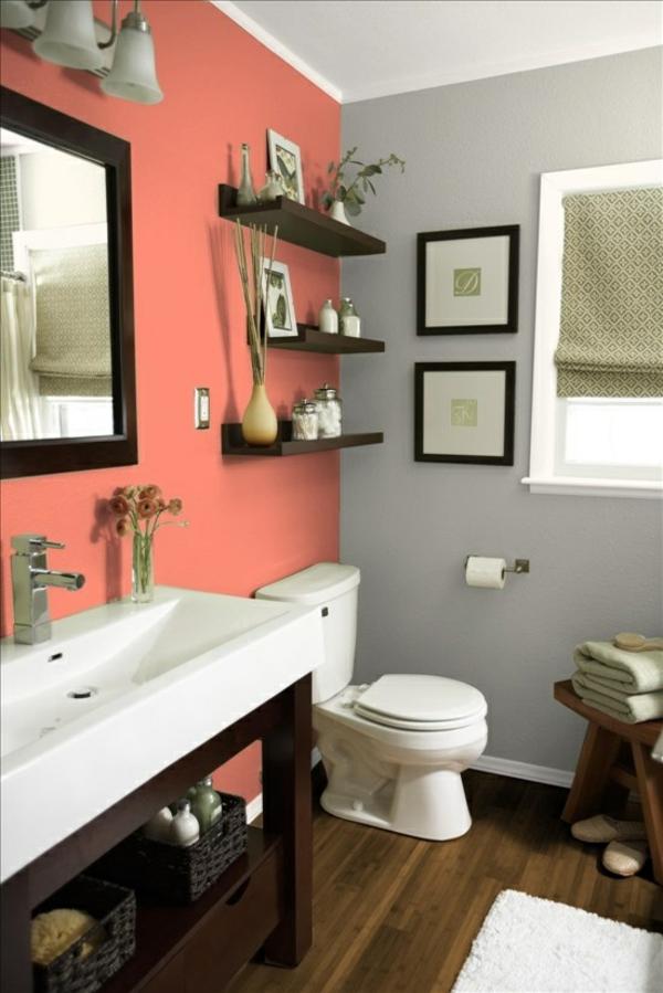sanfte farbkombination badezimmer ideen waschbecken spiegel