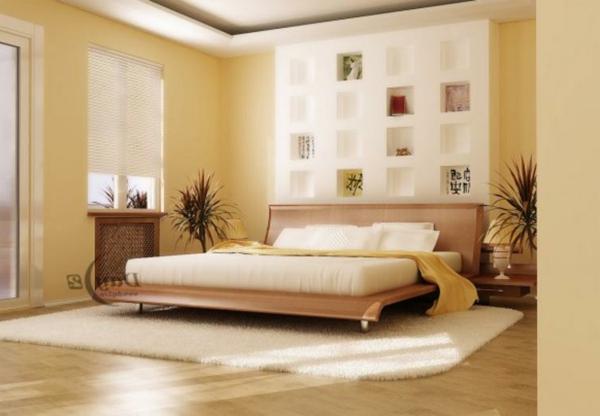 schön-schlafzimmer-einrichten-warm-farben-wand