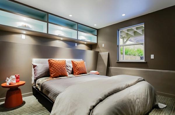 schöne beistelltische modernes zuhause grau farbgestaltung