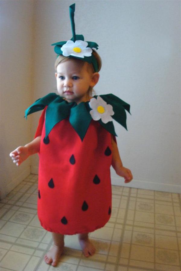 schöne ideen für faschingskostüme erdbeere