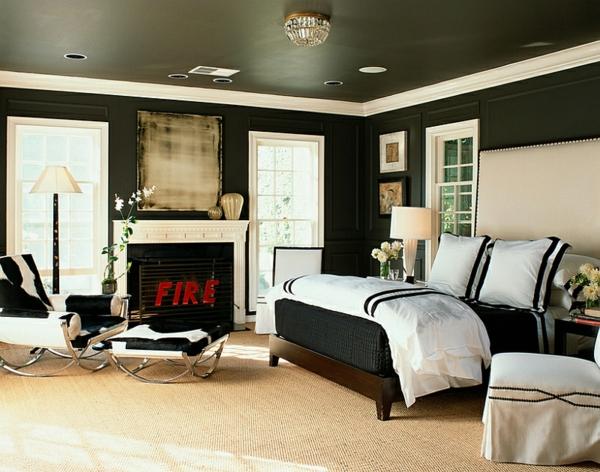 ... Weiß : schlafzimmer design ideen männlich stilvoll schwarz-weiß
